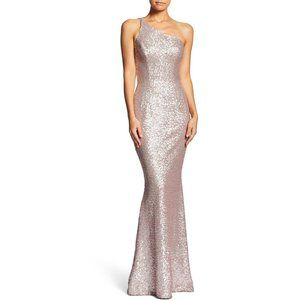 Dress the Population Pink Sequin Gown